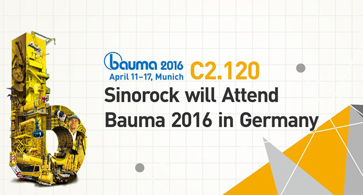 Sinorock® Will Attend Bauma in 2016