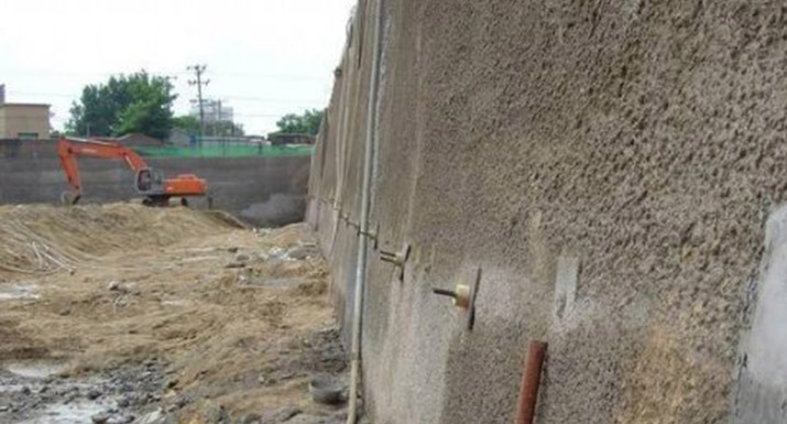 Soil nail support in slope stabilization soil nail system for Soil support