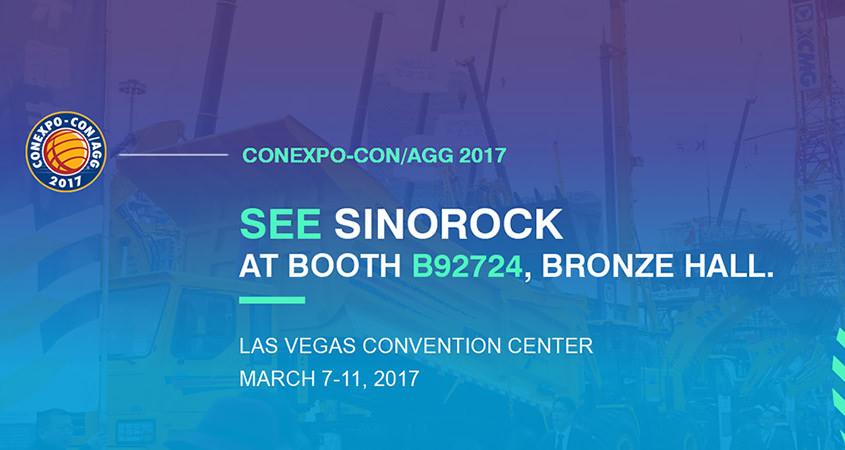 Sinorock® Will Attend CONEXPO-CON/AGG 2017